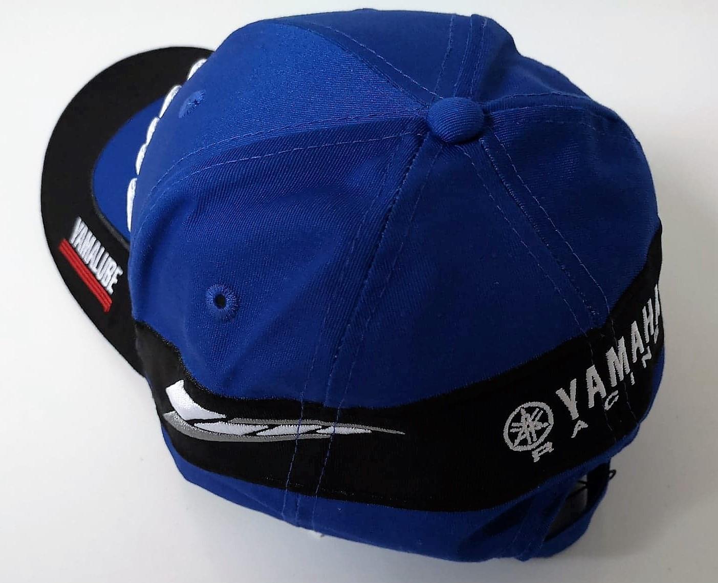 Genuine Yamaha Racing Paddock Blue Adult Speedblock /'Naho/' Cap