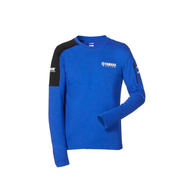 Yamaha Paddock Blue Long Sleeved T-Shirt Mens 2020