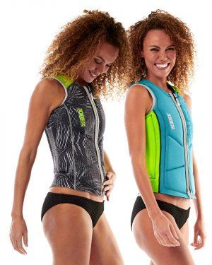 Jobe Reversible Comp Vest Zipper Ladies Lime Teal